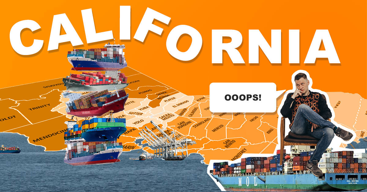 Record-breaking congestion in California ports